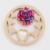 Het Muntstuk van het hart met Parel voor de Juwelen van de Manier van de Gift van de Dag van de Valentijnskaart