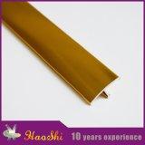 Ajuste flexible del azulejo de los accesorios del azulejo del metal plástico redondo de oro flexible del borde del cromo del bronce de la fábrica de Foshan