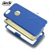 プラスiPhone 7のための1つのパソコンの携帯電話の箱に付きベルトクリップ2つとのShsの縞パターン効果