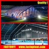 Tente neuve d'écran de chapiteau d'événement de noce de courbe d'Arcum de modèle avec le mur en verre de solide de panneau d'ABS