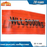 flacher Material-Riemen-rote Farbe des Polyester-5t (Hebegurt)