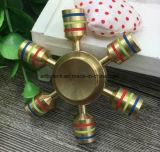 Het kleurrijke Metaal Gemaakt tot EDC de Spinner van de Hand friemelt het Stuk speelgoed van de Spinner met het Ontspannen van Zes Hoofden van de As de Grappige Hand van het Stuk speelgoed