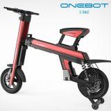 Aleación de aluminio de 12 pulgadas plegable la bici eléctrica con la visualización de LED, linterna del LED, luz trasera, señales de vuelta