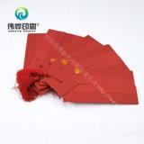 Modificado para requisitos particulares con la tarjeta roja de la invitación de la boda de la impresión de la alta calidad