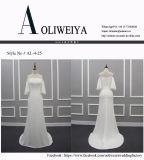 تصميم بسيطة أطلس من كتف زفافيّ عرس ثوب