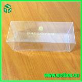 Caixa retangular retangular plástica com impressão de tela com cabide