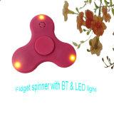 LED-helle Handspinner-Metallunruhe-Spinner-Finger-Fingerspitze-Kreiselkompaß Tri-Spinner Beleuchtung Handspinner Unruhe