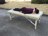 De witte Lijst van de Massage van de Beuk Draagbare met Regelbare Rugleuning MT-009-2W