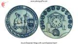 Pièce de monnaie d'enjeu de souvenir avec le fini antique (YH-MP002)