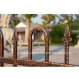Haohan a personnalisé la frontière de sécurité en acier galvanisée décorative industrielle résidentielle élégante 85