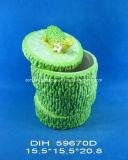 Vaso di ceramica dipinto a mano di immagazzinaggio di vegetali