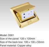Socket del suelo del color del oro de la aleación de Coppe de la cubierta del metal