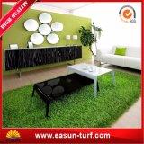 Herbe artificielle synthétique de décoration Anti-UV de jardin pour l'horizontal