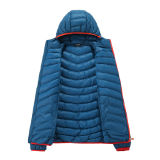 대조 지퍼를 가진 여자 겨울 패딩 Hoody 재킷