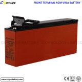 12V125ah bateria dianteira do terminal VRLA, bateria terminal dianteira solar