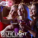 SelfieのSmartphoneのiPhoneのSamsungのピンクの白のための携帯用フラッシュLEDカメラの電話写真撮影のリングの軽い高める写真撮影