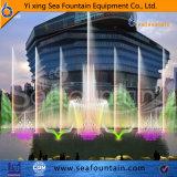 Acero inoxidable lago flotante fuente de la música 3D
