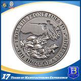 pièce de monnaie argentée antique en métal du ramassage 3D pour le souvenir (Ele-C117)