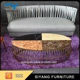 Mesa de centro do mármore da tabela do sofá da mobília da sala de visitas