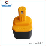 Reemplazo 12V 1500mAh Ryo-12 Ni-CD de la batería de la herramienta eléctrica para Ryobi