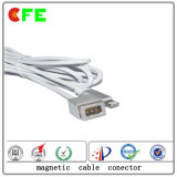 Cable connecteur magnétique électronique personnalisé avec le Pin de Pogo