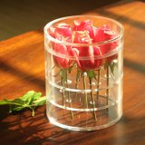 Cadre acrylique de Rose de perspex de fleur d'espace libre en gros d'étalage