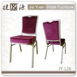Гостиница хорошего качества голубая алюминиевая обедая стул (JY-L26)