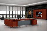 Lujo Mesa de color de la teca de la oficina de la forma de L 2.2m Escritorio ejecutivo (HF-FB15032)