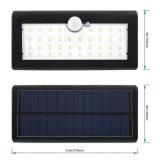 Imperméabiliser 3 la lumière légère actionnée solaire intelligente de nuit de support de mur de détecteur de mouvement des modes 38 DEL SMD2835 PIR