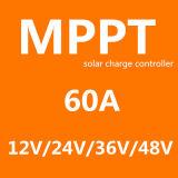 Regulador solar inteligente fotovoltaico 60A de la carga del sistema Fangpusun 12V 24V 36V 48V MPPT del panel de RoHS 150VDC picovoltio del Ce
