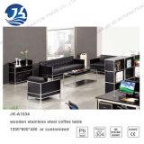 Tabella di tè di legno di vetro moderna di doppio strato per il salone o l'ufficio Jk-A1033