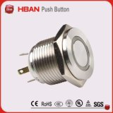 interruptor ligero del anillo principal plano hiperactivo del diámetro de 19m m