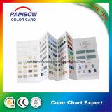 Carta de color de Pantone de la impresión del libro para el sistema de la pintura de la pared