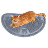 Cuvette alimentante Placemat de couvre-tapis de gant de baseball de litière du chat de couvre-tapis de Toliet d'animal familier du marché de l'Amérique