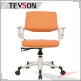 Schwenker-Stuhl im Schaumgummi und Gewebe mit Fußrollen