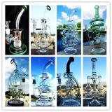 Tubulação de água de fumo de vidro das plataformas petrolíferas misturadas novas da SOLHA do ovo de Faberge do reciclador de Pyrex do Borosilicate da chegada 8