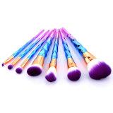 Cepillo cosmético cónico del nuevo del modelo 7 del maquillaje de cepillo del conjunto del maquillaje del cepillo color colorido del gradiente
