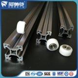 Profil en aluminium industriel anodisé argenté personnalisé pour l'industrie de machines