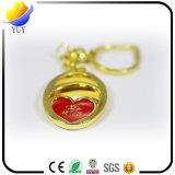 Regalo del Keyring del corazón del oro para los amantes Keychain