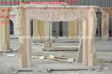 These COUNT Cheap Selling beige Marble Fireplace casing in stick (SY-MFP12307)