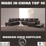 Modernes Form-Leder-Sofa des Wohnzimmer-U (LZ-122)