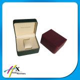 Precio de fabrica de alta calidad caja de reloj de cuero con textura única