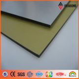 Hebra y el panel compuesto de aluminio aplicado con brocha de oro del ACP