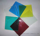 색깔 PVB를 가진 10mm+1.52PVB+10mm (21.52mm) 단단하게 한 박판으로 만들어진 유리