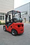 신계열 유엔 2.5 톤 LPG와 GM 엔진을%s 가진 가솔린 포크리프트 두 배 연료 포크리프트