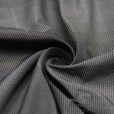 Acqua & degli abiti sportivi prodotto nero intessuto rivestimento esterno Vento-Resistente 100% del filamento del filato del poliestere del jacquard del plaid giù (FJ015)