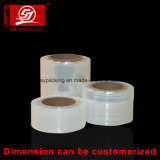 12-25 película irregular elevada do envoltório da película de estiramento da transparência LLDPE de Mircon