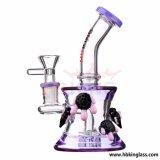 China Factory Tobacco LED en verre Shisha Hookah Glass Water Pipe