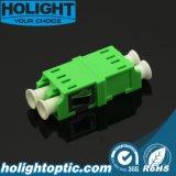 플랜지 없는 LC APC Dx Sm 녹색 접합기