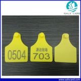 Tag de orelha do gado da amostra livre 78X58mm para a gerência de seguimento animal